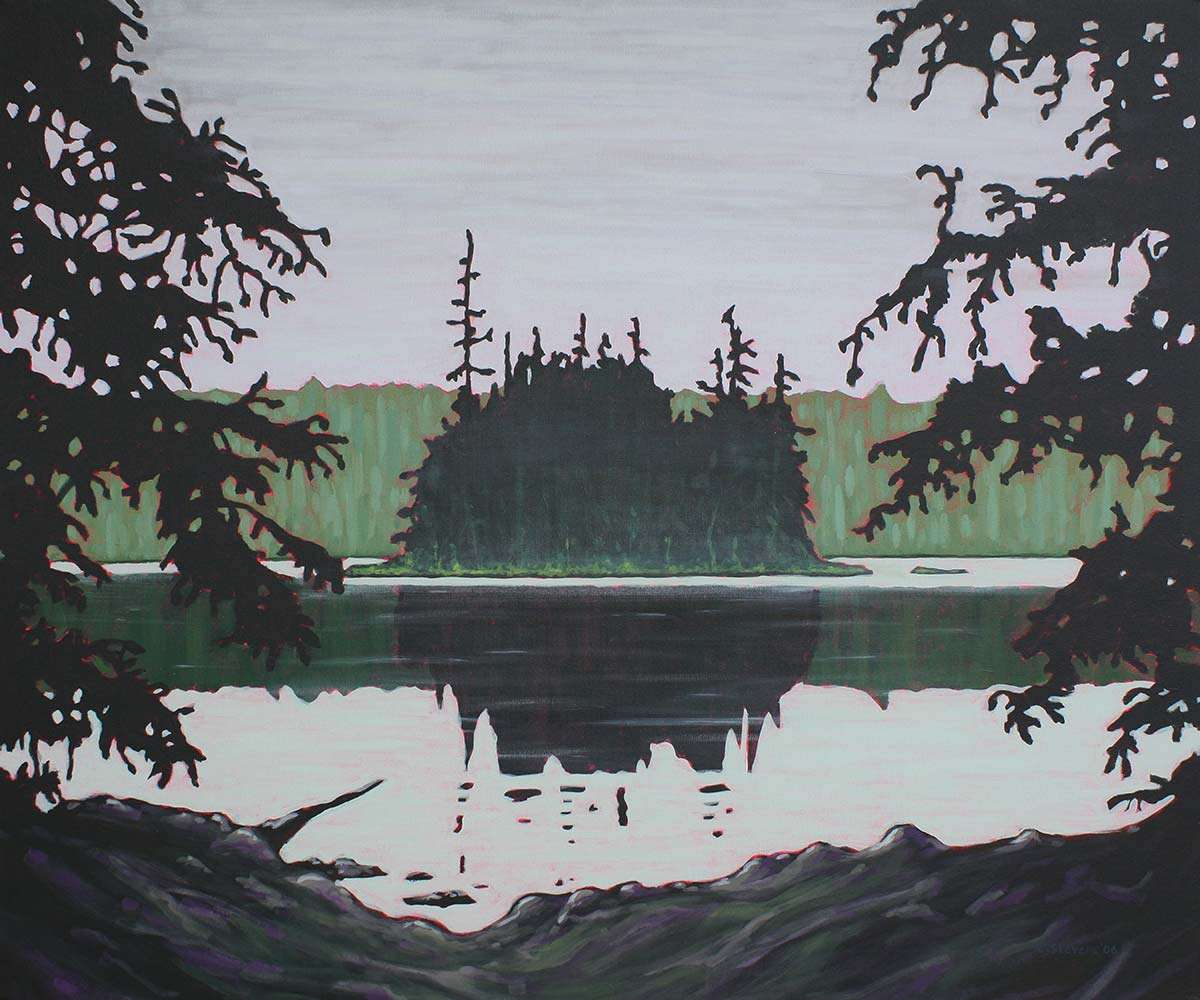 Ouse Lake painting by C. Stevens
