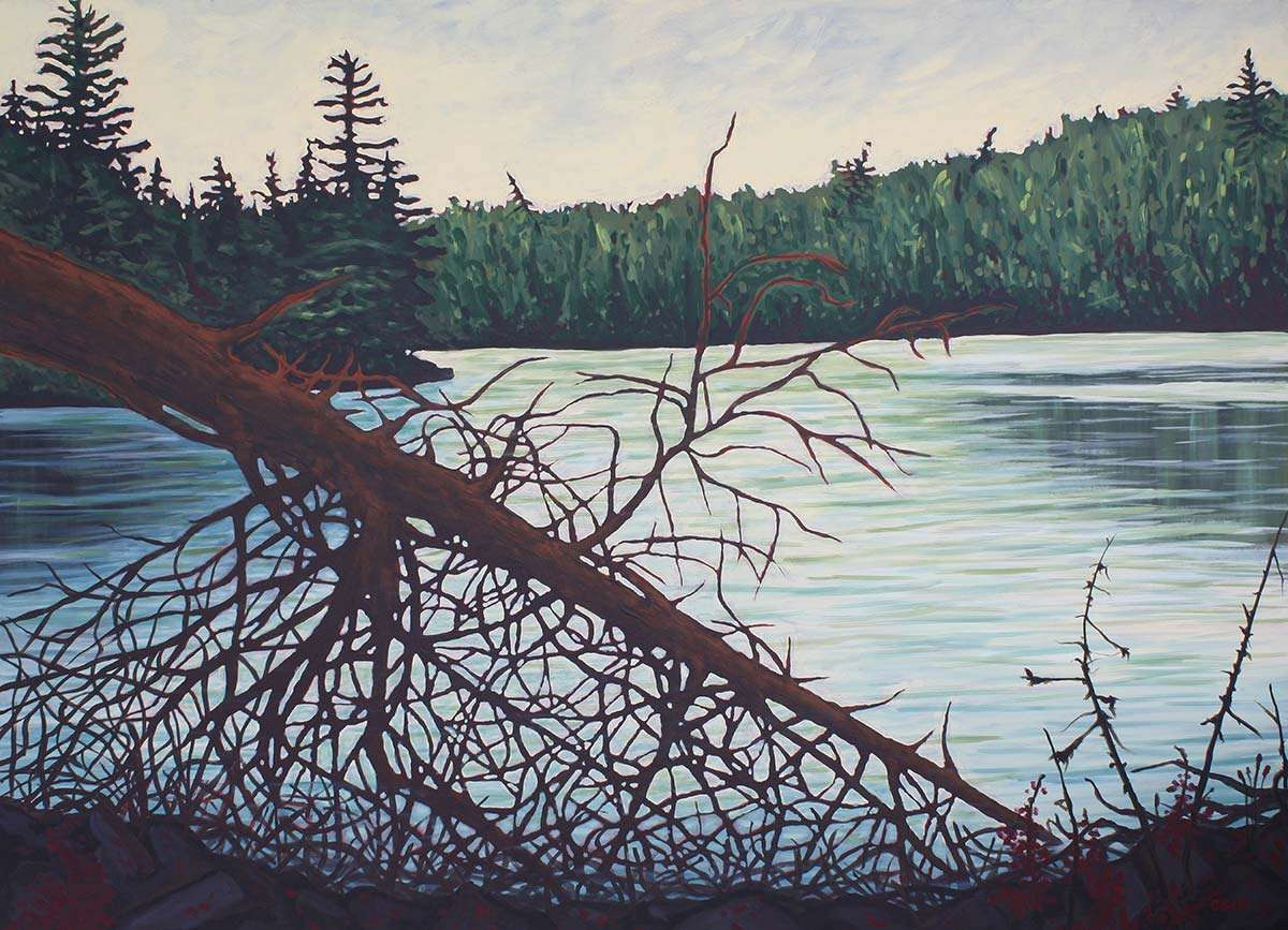 Raven Lake painting by C. Stevens