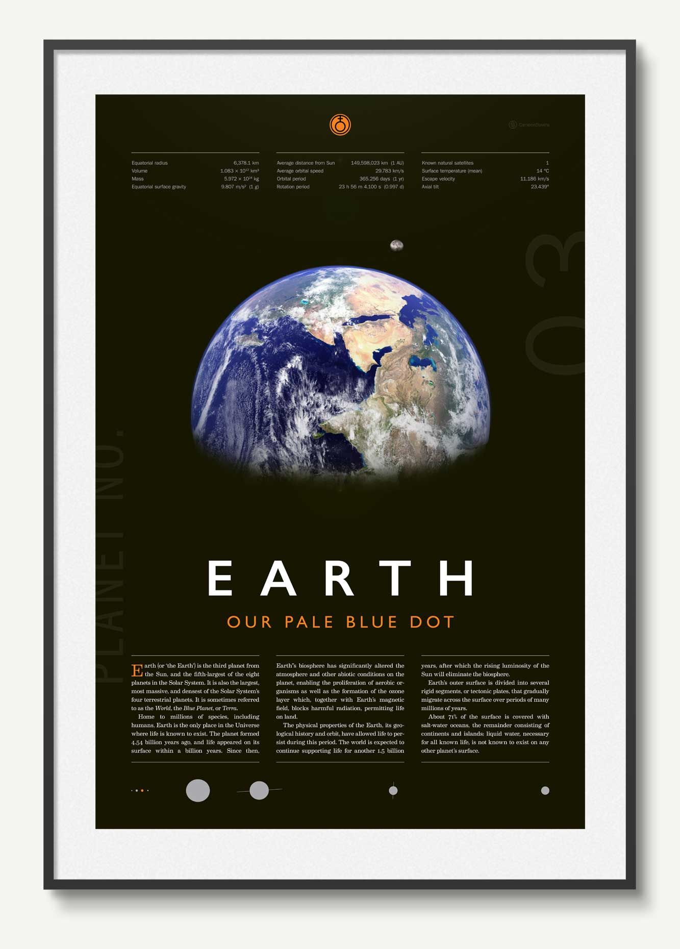 Earth poster by Cam Stevens