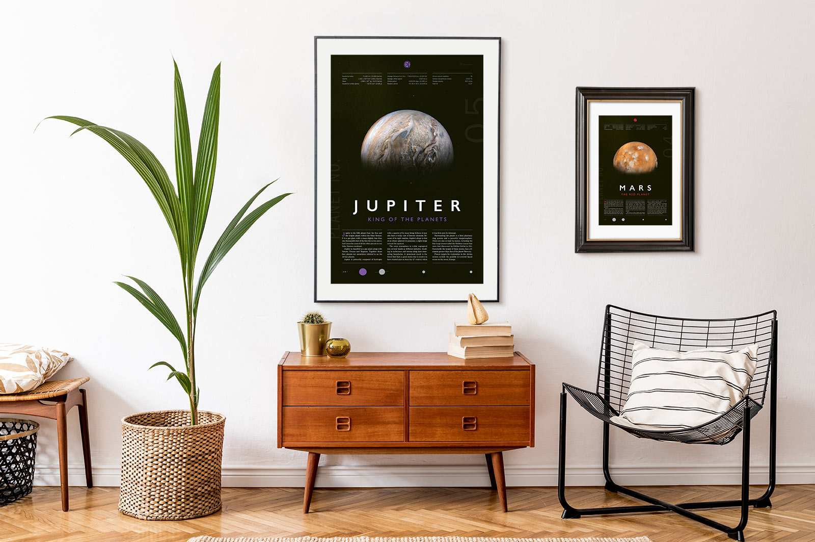 Jupiter and Mars prints
